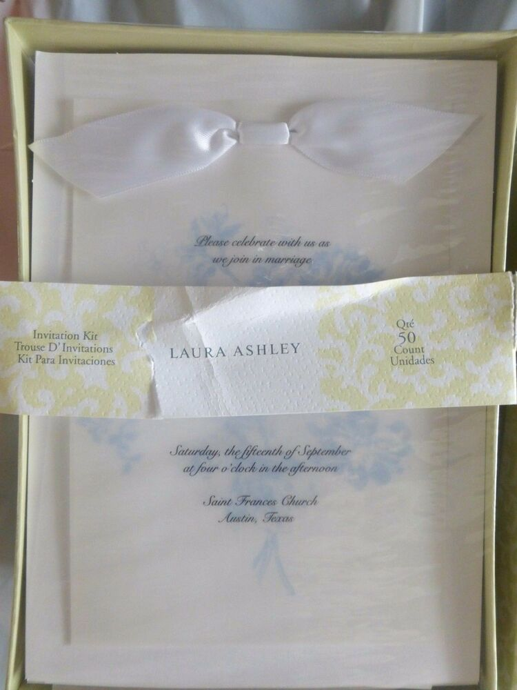 Wedding Gift Card Laura Ashley : Laura Ashley Invitation Kit 50 Count Periwinkle Floral #68124 New in ...