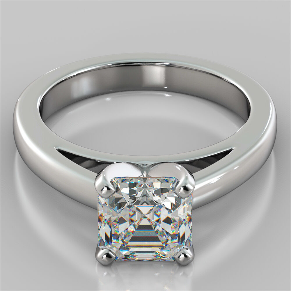 wedding rings on ebay asscher cut cathedral style engagement ring in 14k white 1053