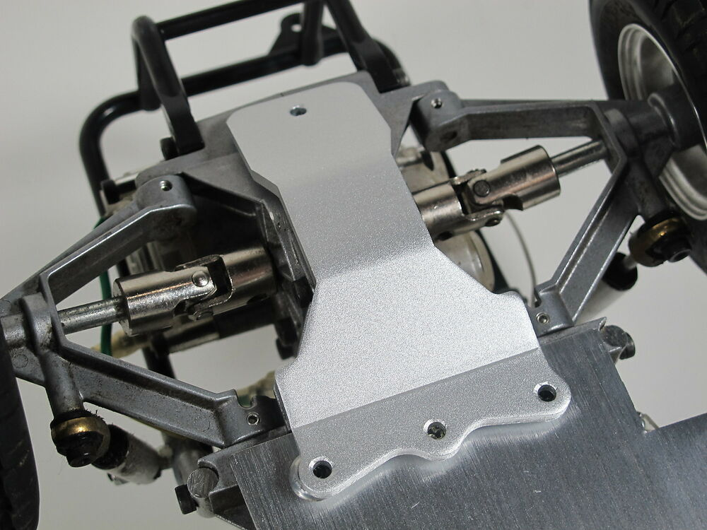 Tamiya 1 10 rear aluminum skid chassis plate sand scorcher for Chassis aluminium