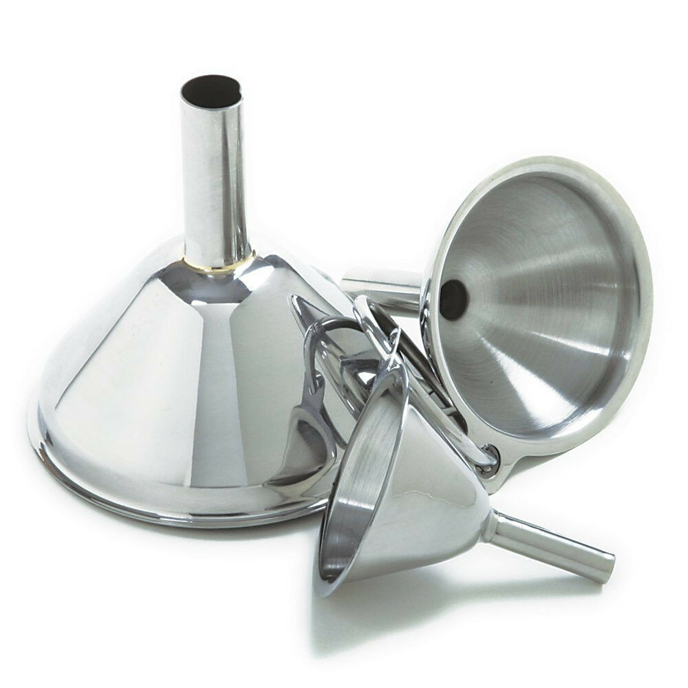 Kitchen Funnel Set Of 3 Funnels Stainless Steel Small