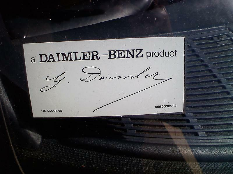 Daimler signed mercedes benz windshield decal sticker a for A mercedes benz product sticker