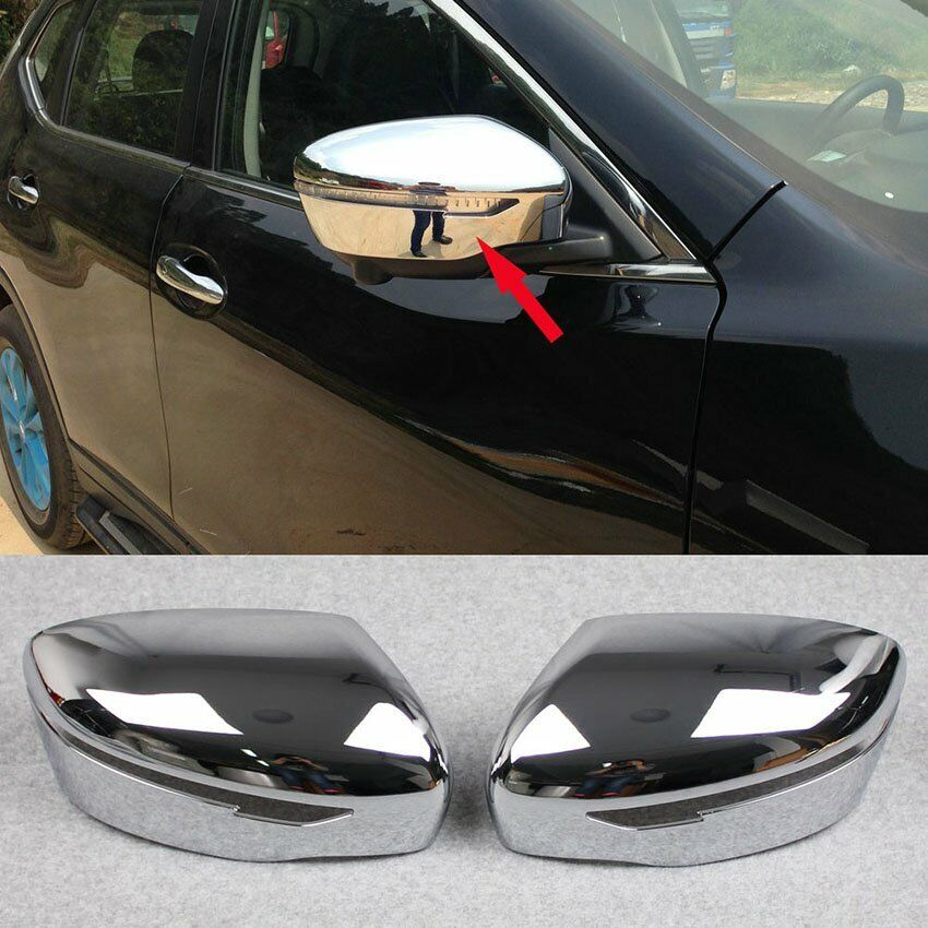 Fit Nissan Qashqai 2014 2015 2016 Chrome Rear View Mirror