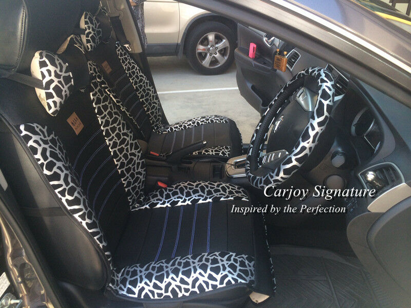 universal pu leather snow silver black leopard print car seat cover waterproof ebay. Black Bedroom Furniture Sets. Home Design Ideas