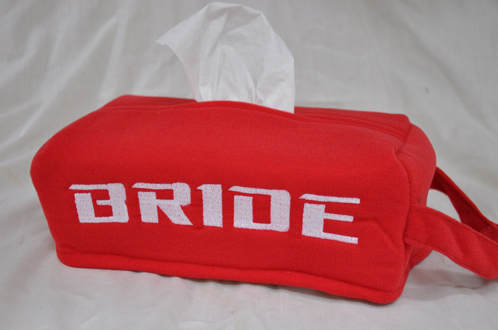 new embroidery bride racing logo red car seat tissue box