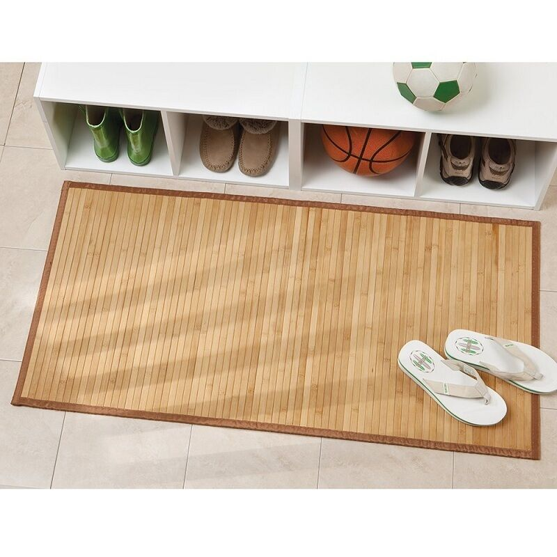 Bamboo Floor Mat Bathroom Shower Rug Home Toilet Kitchen
