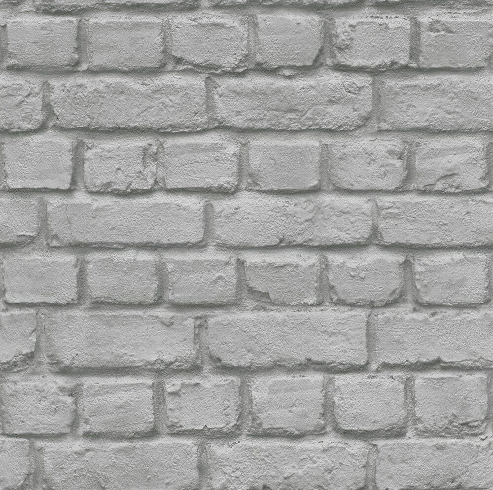 rasch 226720 3d stone brick wall effect feature wallpaper