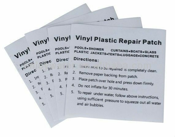 Heavy Duty Vinyl Plastic Puncture Repair Patches For Swimming Pool Paddling Poo Ebay
