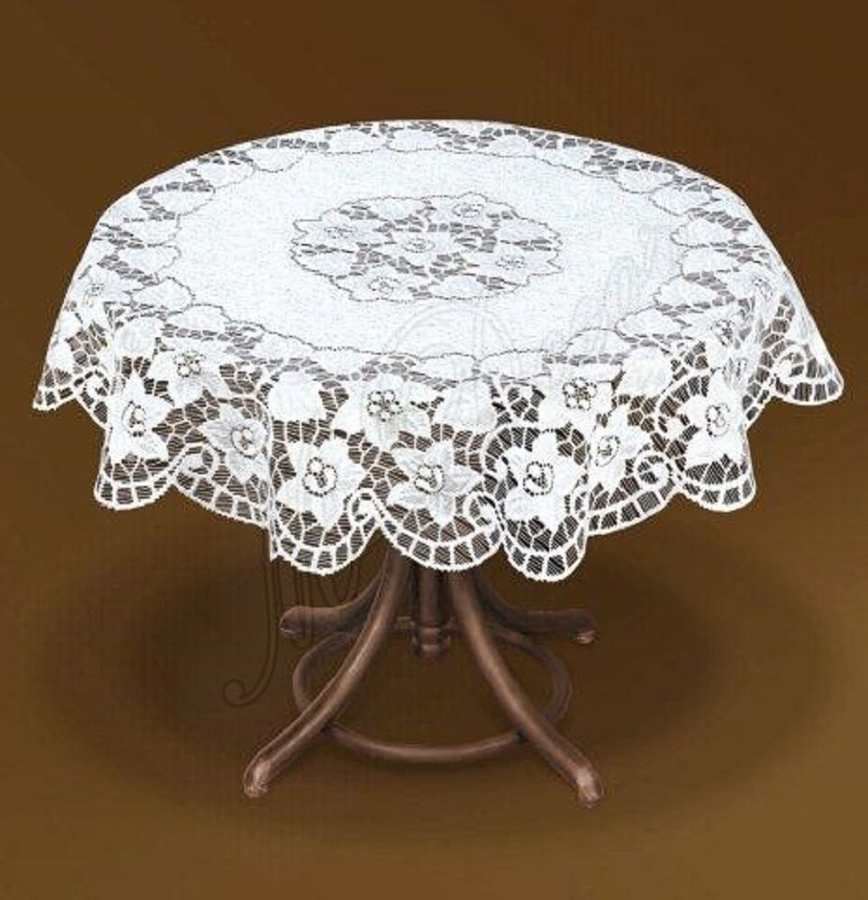 Tablecloth large floral round cream lace NEW 216 200cm 79  : s l1000 from www.ebay.co.uk size 964 x 1000 jpeg 108kB