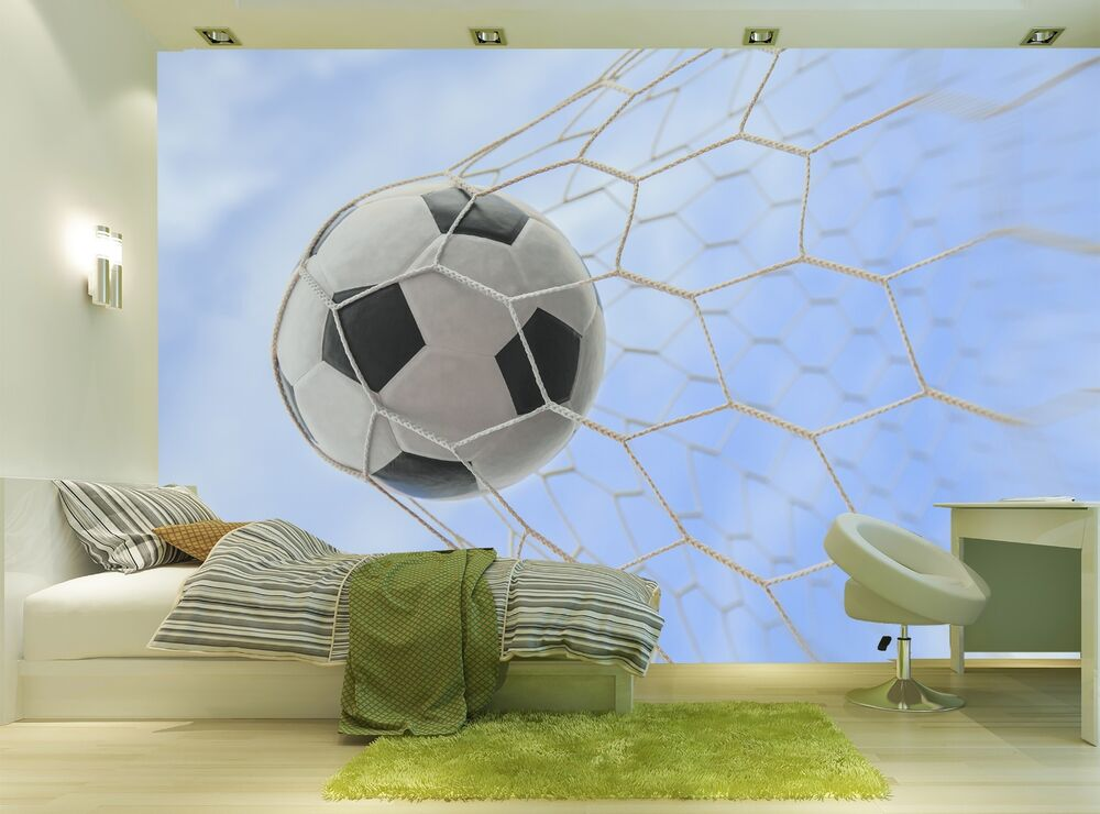 Soccer Ball Wall Mural Photo Wallpaper GIANT WALL DECOR Paper Poster Free Paste 7104691671839 | eBay