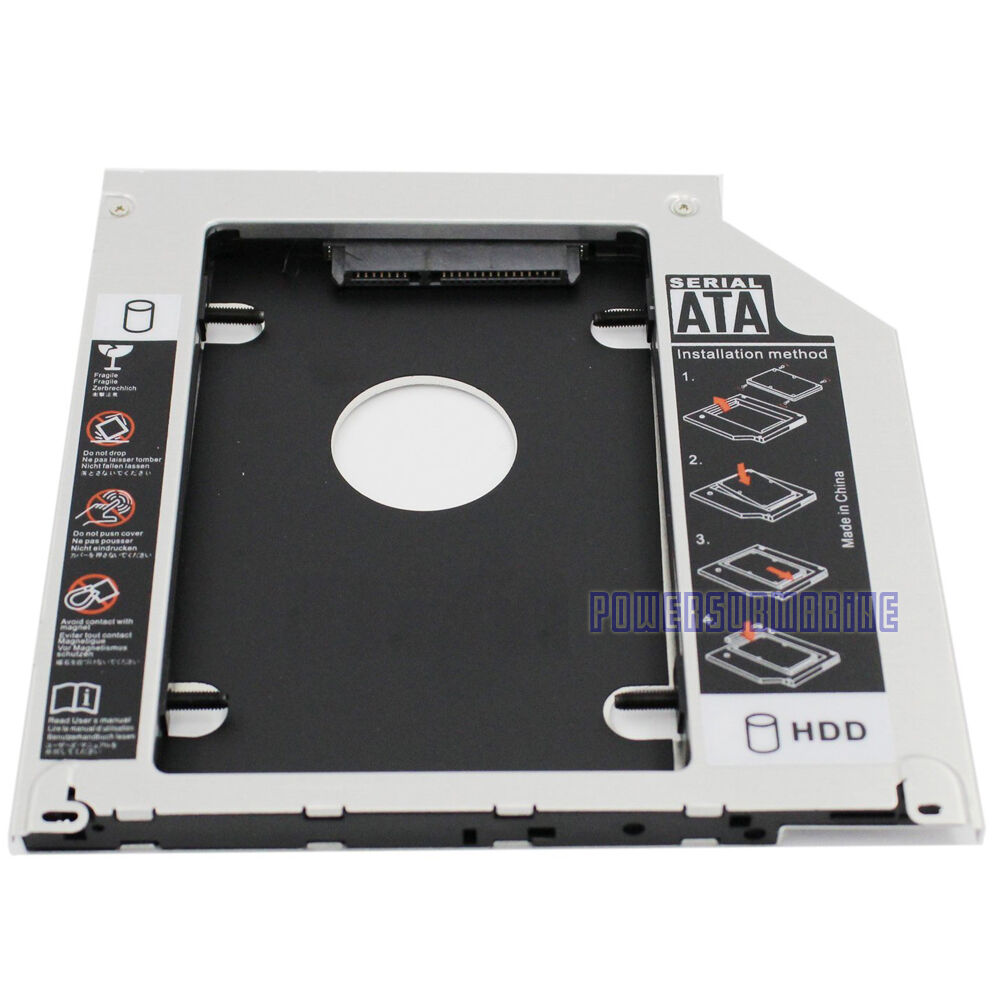 for universal apple macbook pro optical bay 2nd hdd hard drive caddy sata ebay. Black Bedroom Furniture Sets. Home Design Ideas