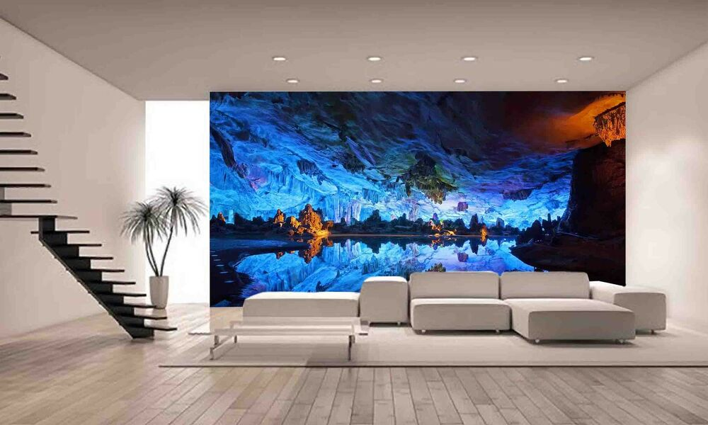 Underground cave wall mural photo wallpaper giant decor for Decor mural underground