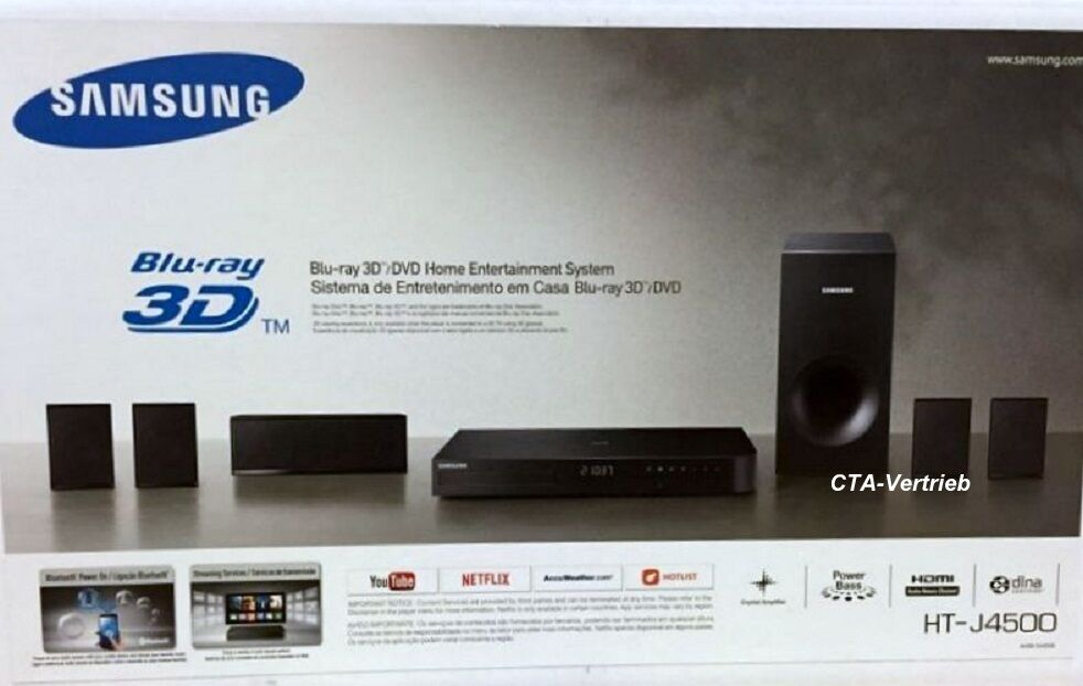 samsung ht j4500 5 1 3d blu ray heimkinosystem 500w. Black Bedroom Furniture Sets. Home Design Ideas