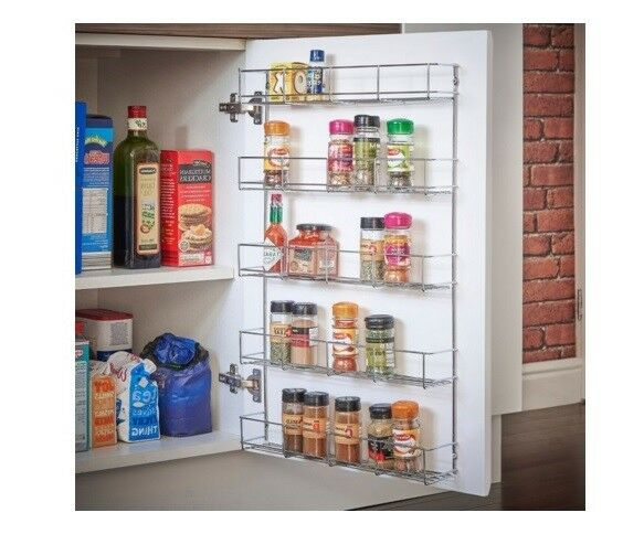 Spice Herb Rack Door Bottle Holder Wall Mounted Organizer