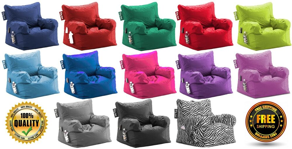 Big Joe Dorm Bean Bag Chair, Multiple Colors Bedroom Game ...