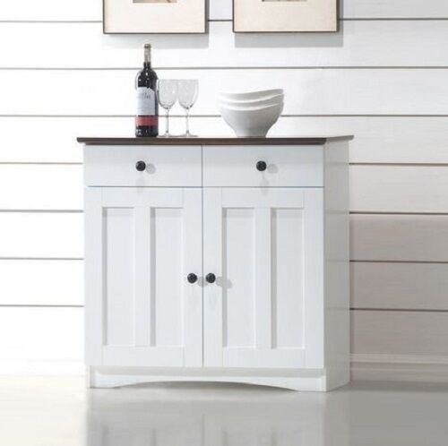 Mail Order Kitchen Cabinets: White Modern Buffet Cabinet Sideboard Server Hutch China