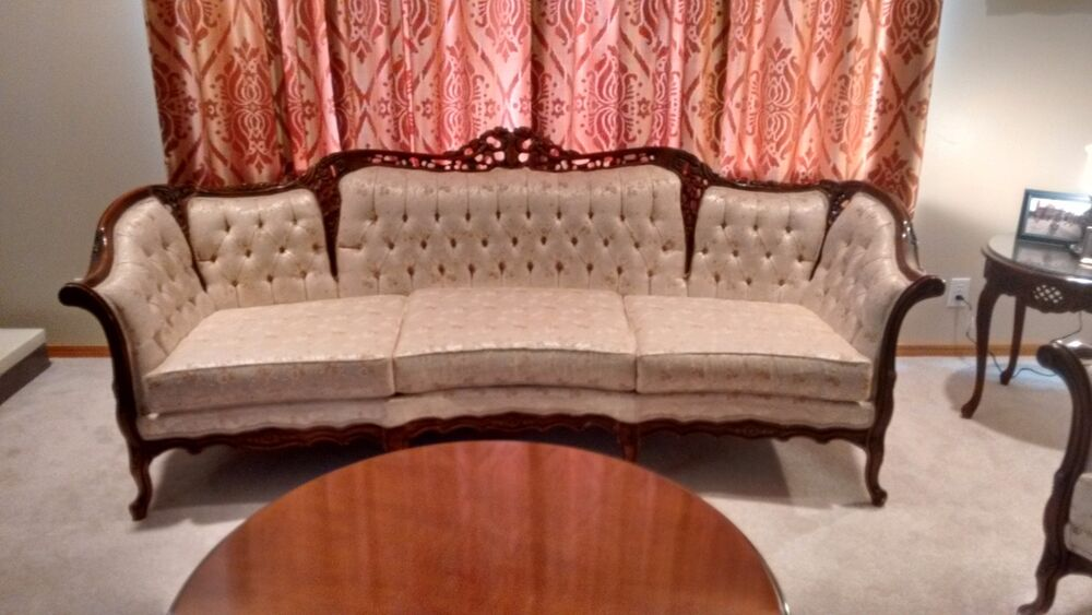 french provincial reproduction sofa and chair set by Purple Velvet Tufted Sofa Black Velvet Tufted Sofa