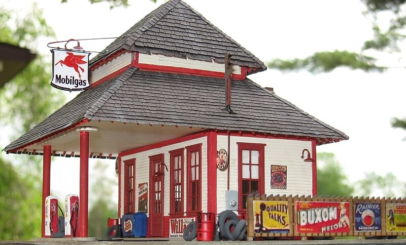 micro scale models ho scale mobil gas station kit ebay
