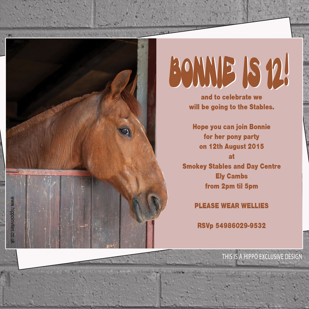 Personalised Horse Riding Stables Birthday Party