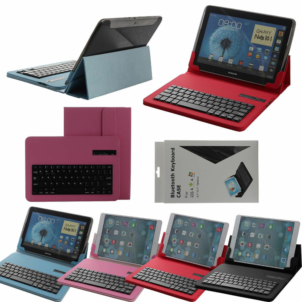 """Removable Bluetooth Keyboard Case Cover For 9""""- 10.1"""