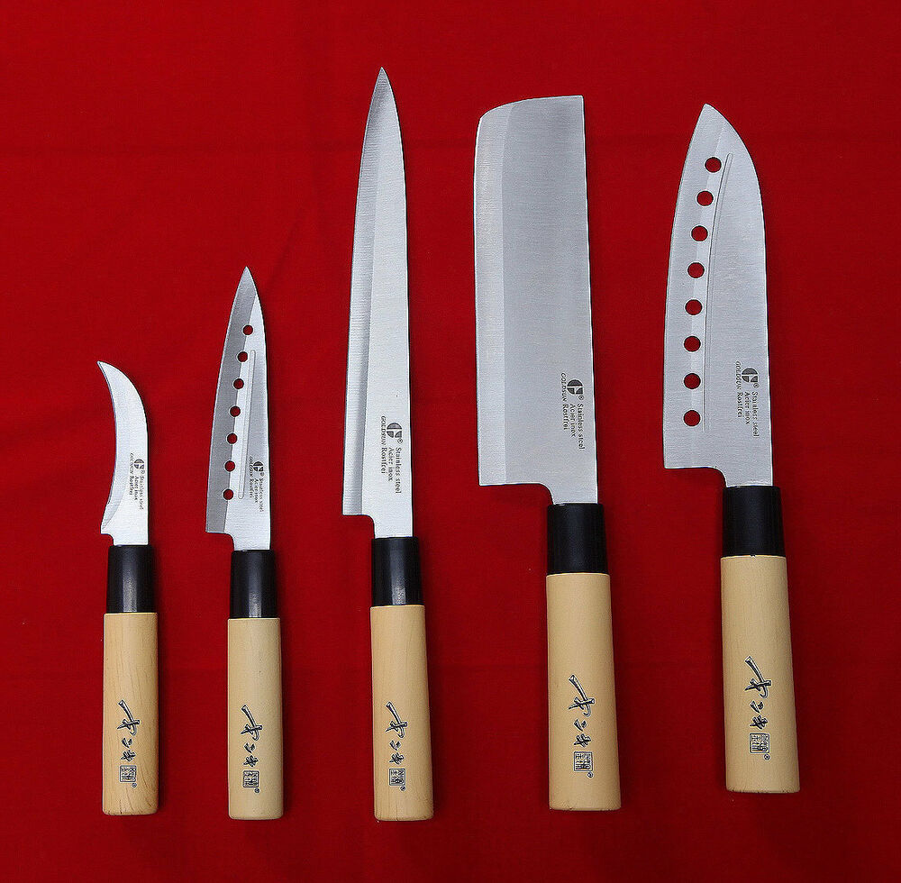 list of kitchen knives 5 knives set chef knife japanese sashimi kitchen cutlery stainless steel sushi ebay 2514