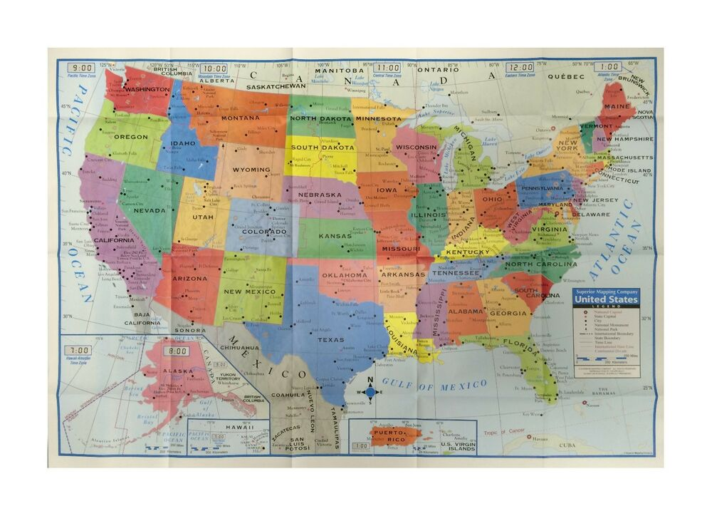 United States Us Wall Map