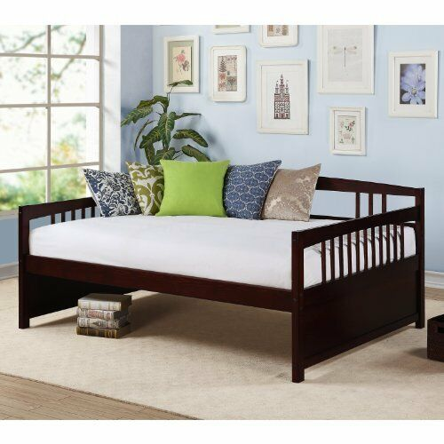 Daybed sofa sleeper full size wooden day bed couch lounge for Queen size daybed frame