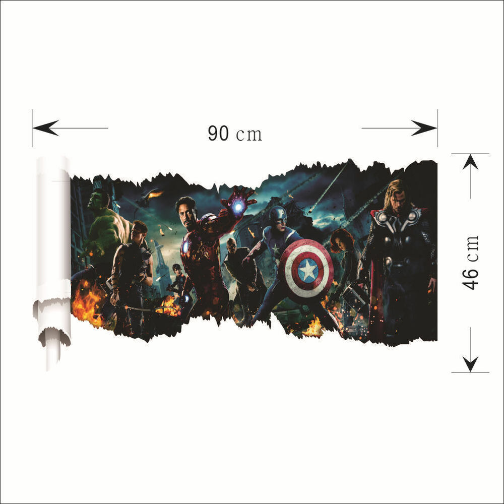 HOME AVENGERS 3D wallpaper wall sticker mural