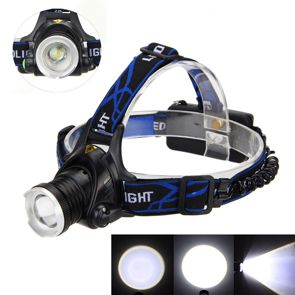 Rechargeable 5000LM CREE XML T6 LED Headlight Headlamp ...