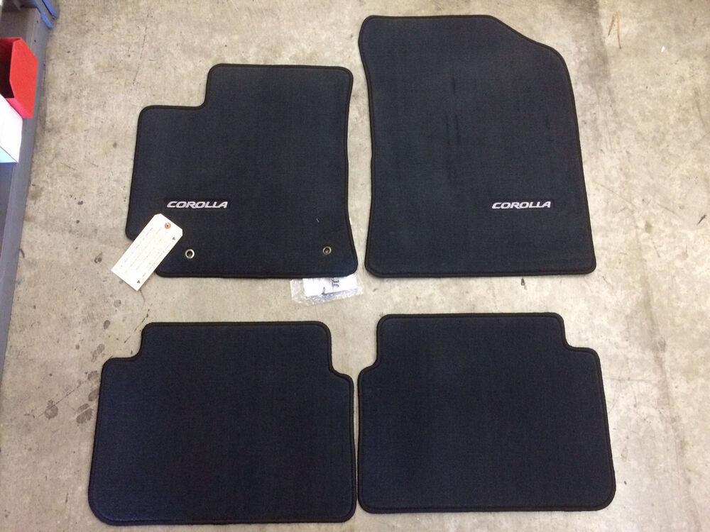 2009 2013 corolla nap carpet floor mats dark charcoal for Original toyota floor mats
