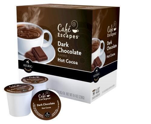 Cafe Escapes Dark Chocolate Hot Cocoa Keurig K Cups 16 Count Pack Daily Deals Ebay