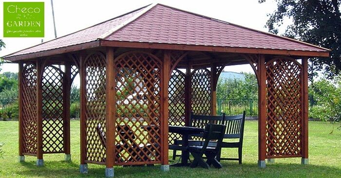 13ft x 13ft ex 15ft x 15ft garden wooden pavilion gazebo patio sale ebay. Black Bedroom Furniture Sets. Home Design Ideas