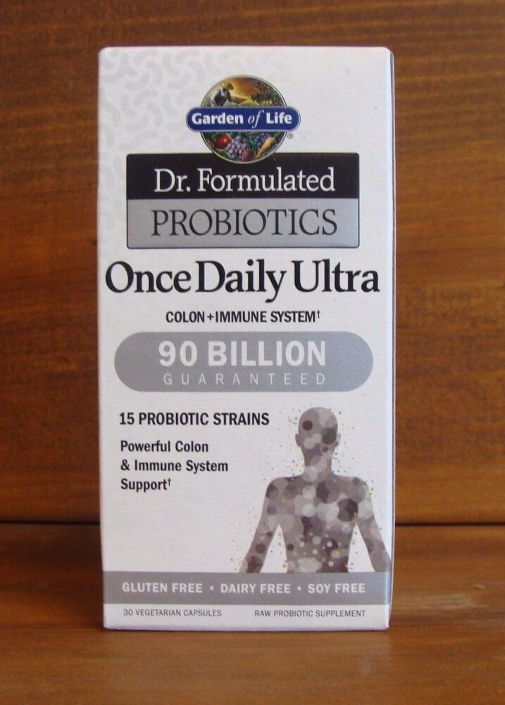 Garden of life dr formulated probiotics once daily ultra 30 capsules 658010118453 ebay for Garden of life once daily women s probiotic