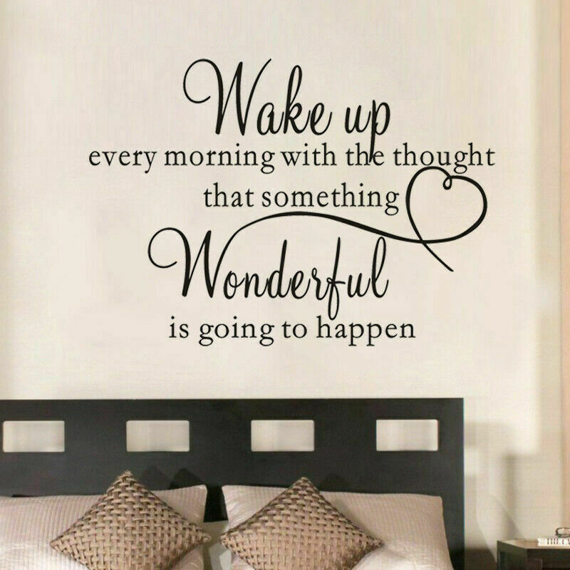 Heart family wonderful bedroom quote wall stickers art for Best quotes for wall art