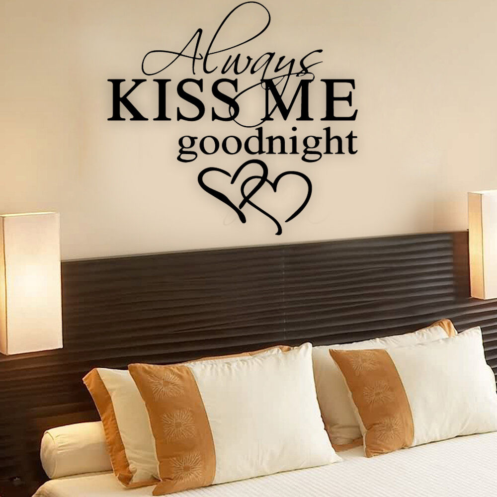 wall decals bedroom always me goodnight quote wall stickers bedroom 13759