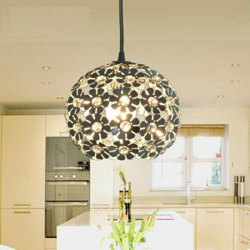 flower crystal ceiling light pendant l fixture lighting 14309 | s l1000