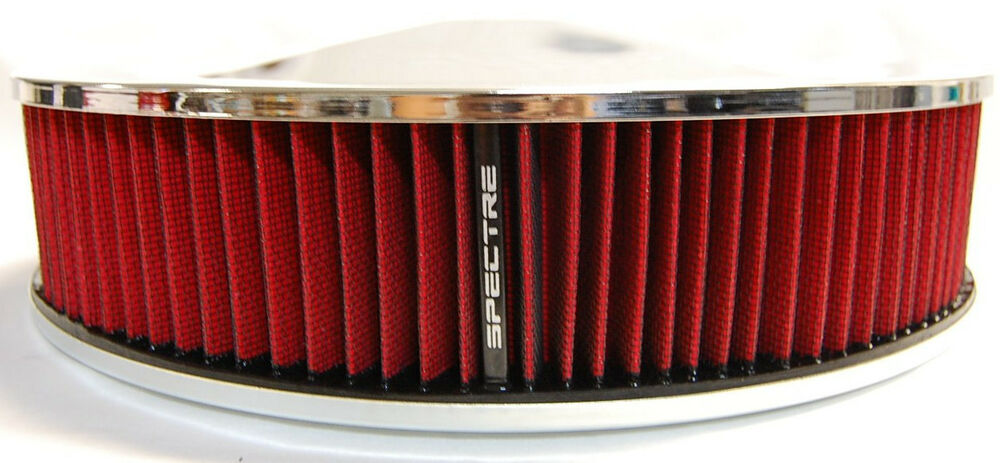 spectre 14x3 chrome racing air cleaner filter assembly. Black Bedroom Furniture Sets. Home Design Ideas