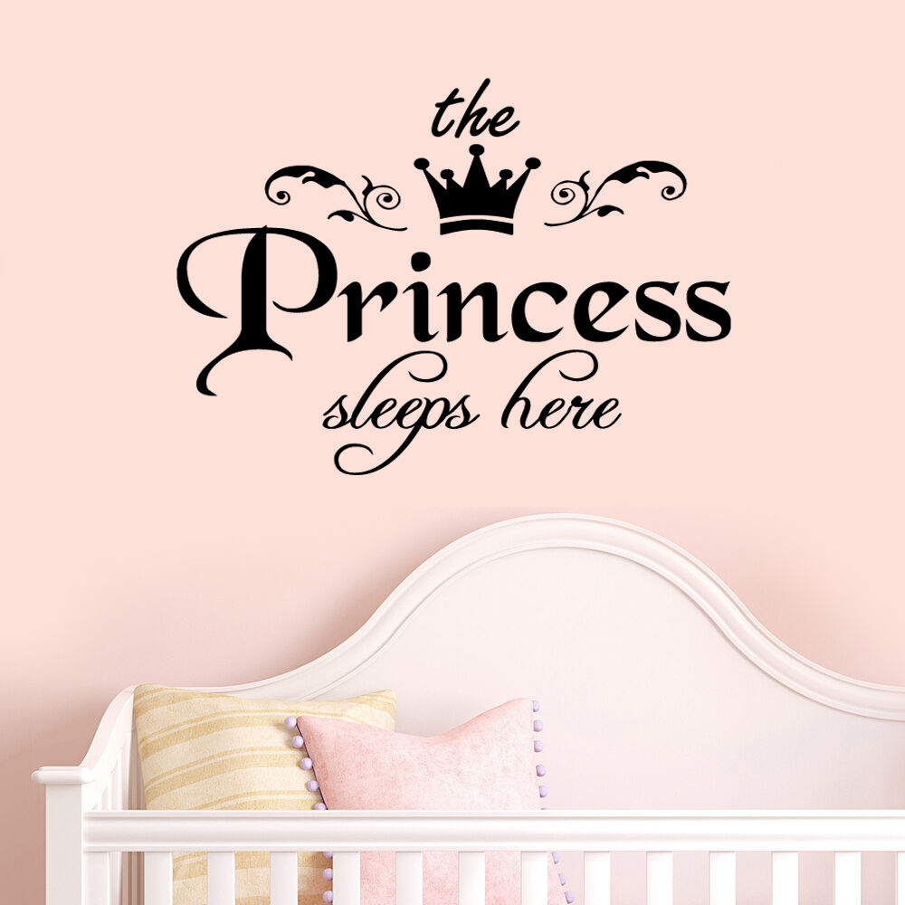 princess sleeps baby kids girl quote wall stickers art your first breath baby nursery quote wall sticker world