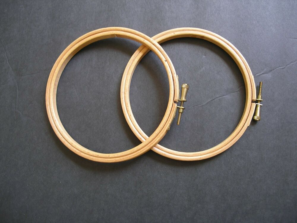 Wooden embroidery hoops ebay