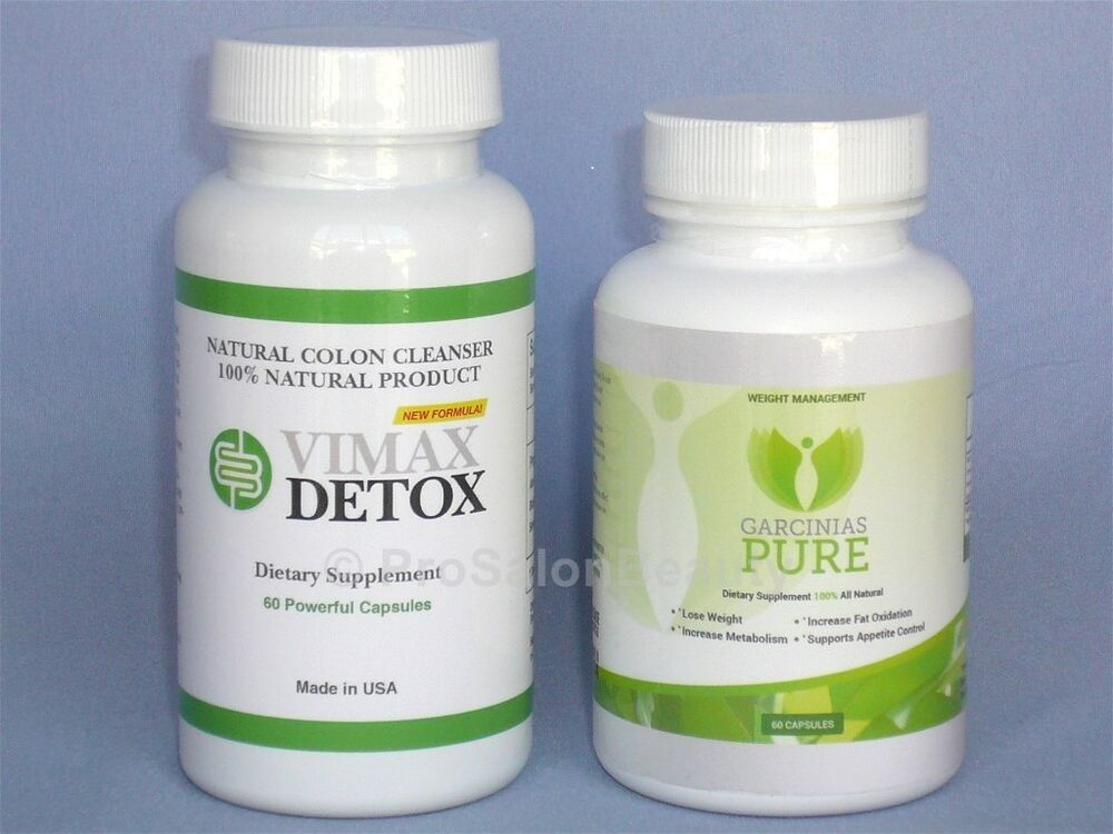 vimax detox colon cleanser garcinias pure cambogia 60 hca weight loss ebay. Black Bedroom Furniture Sets. Home Design Ideas
