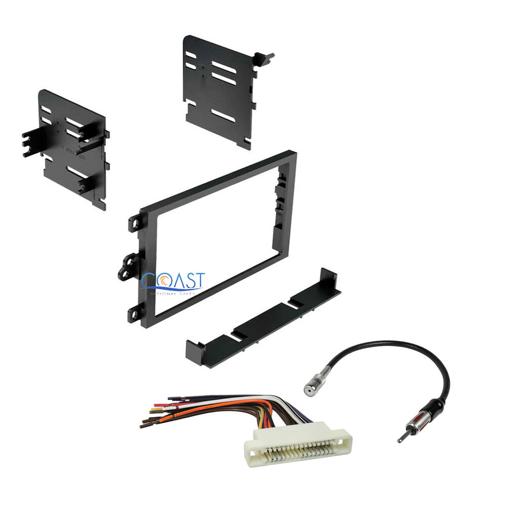 double din install radio dash kit harness antenna for. Black Bedroom Furniture Sets. Home Design Ideas