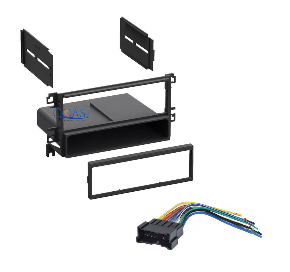 Single Din Installation Car Stereo Dash Kit W  Harness For