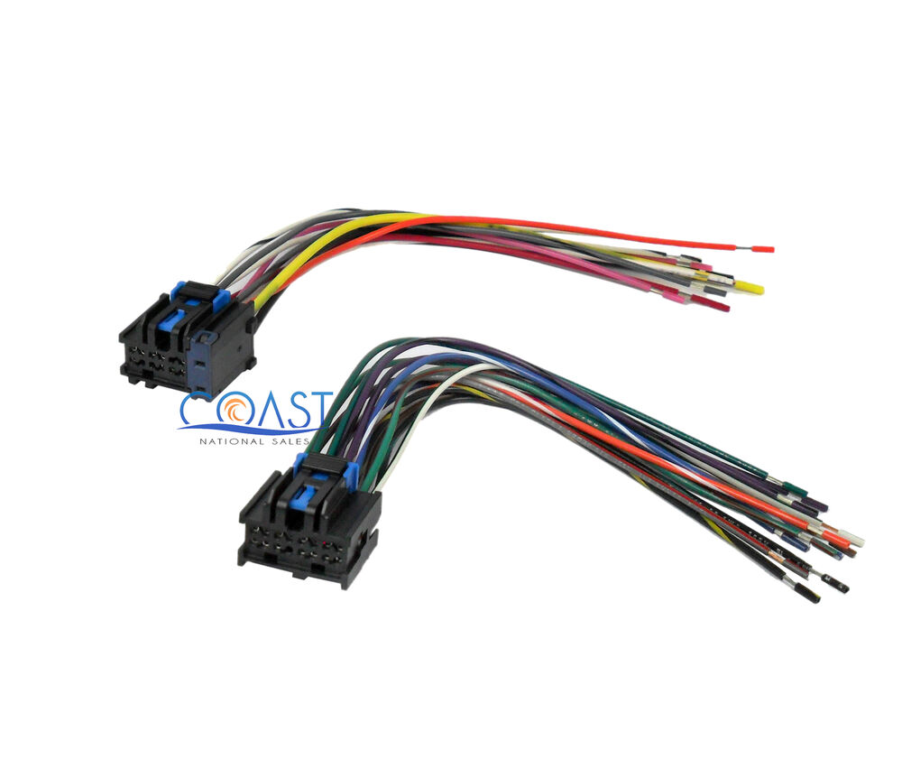 Male Wiring Harness Plugs Into Factory Radio For Select 1996