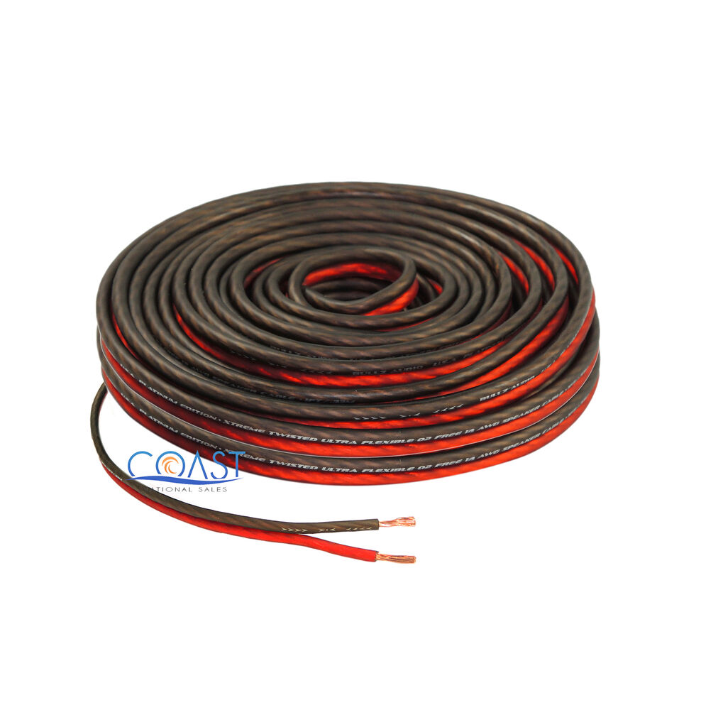 Speaker Wire Size : Red ft true gauge awg car home audio speaker wire