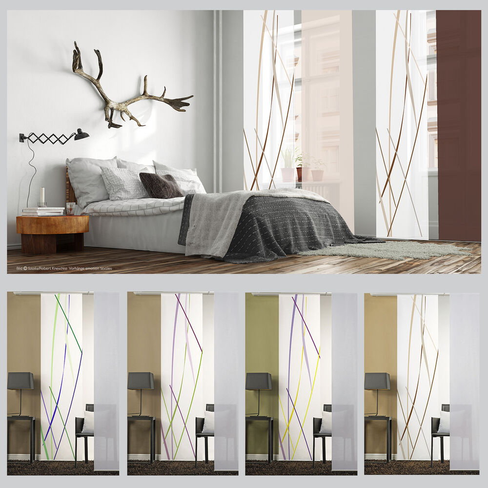 lines sliding curtain surface panel room divider curtain. Black Bedroom Furniture Sets. Home Design Ideas
