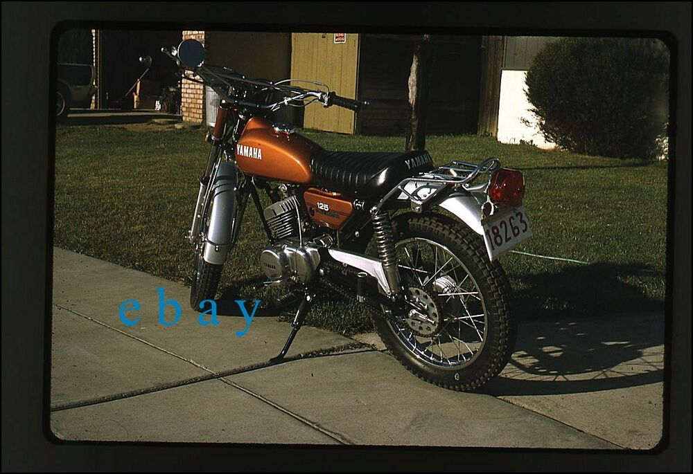 yamaha 125cc motorcycle vintage 35mm photo slide 1972 2 125 ebay. Black Bedroom Furniture Sets. Home Design Ideas
