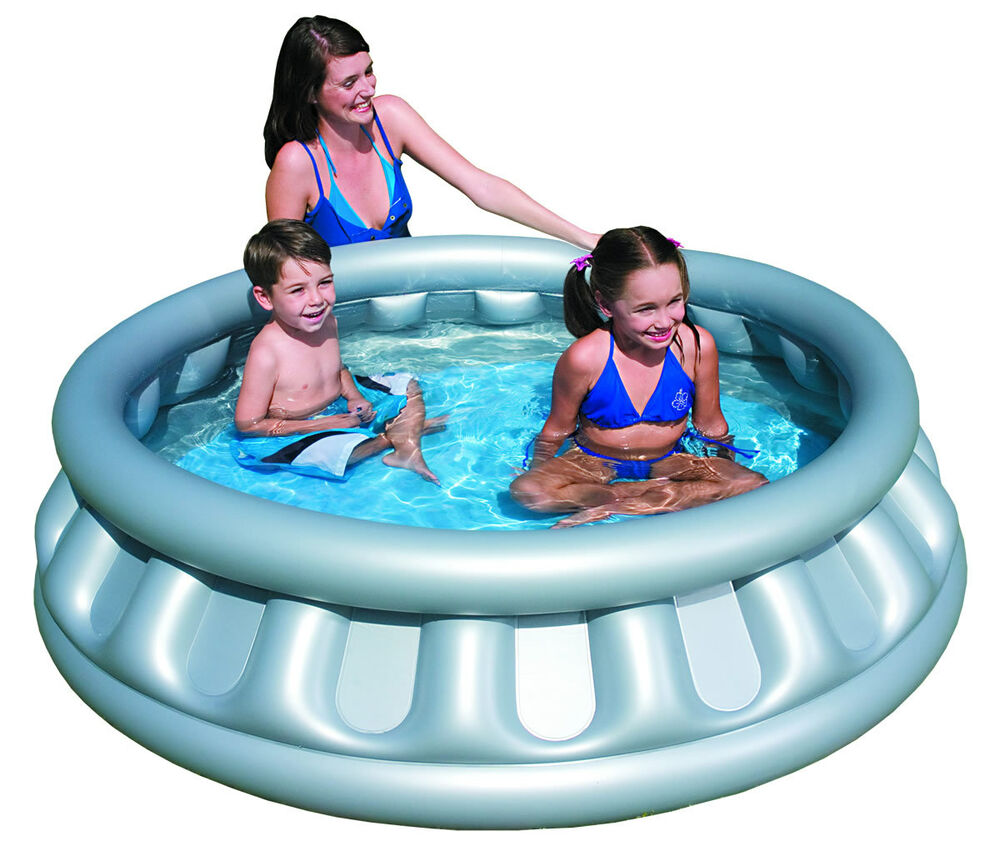 Outdoor inflatable space ship paddling pool swimming pools for Rigid paddling pool