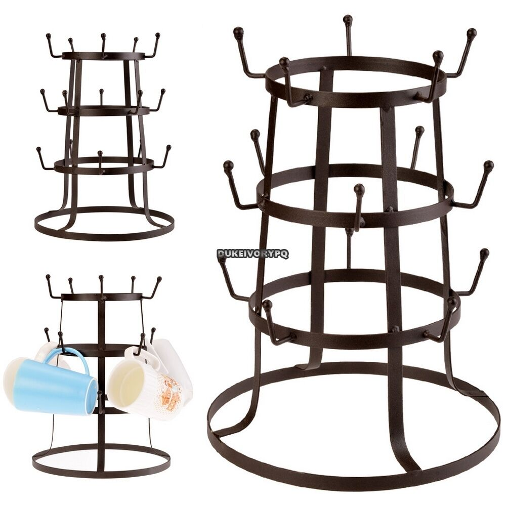 mug tree holder cup rack drying stand coffee mugs kitchen