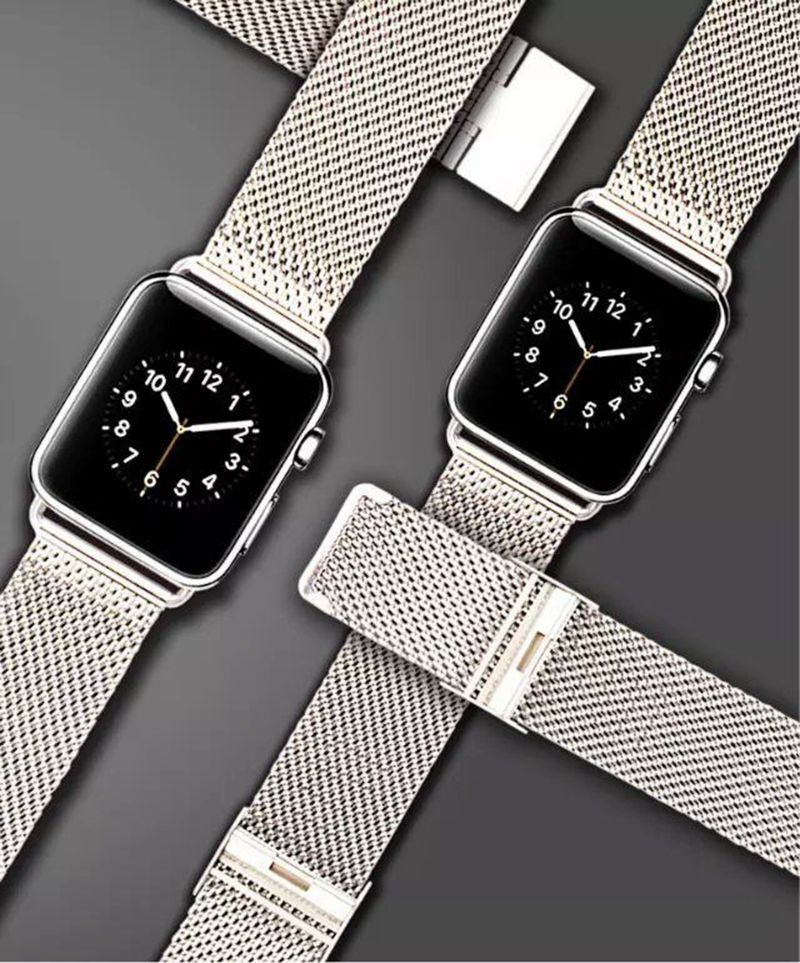 Milanese Stainless Steel Watch band Strap For Apple Watch ...