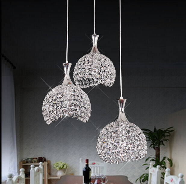 Modern LED Crystal Pendant Lamp Kitchen Bar Ceiling