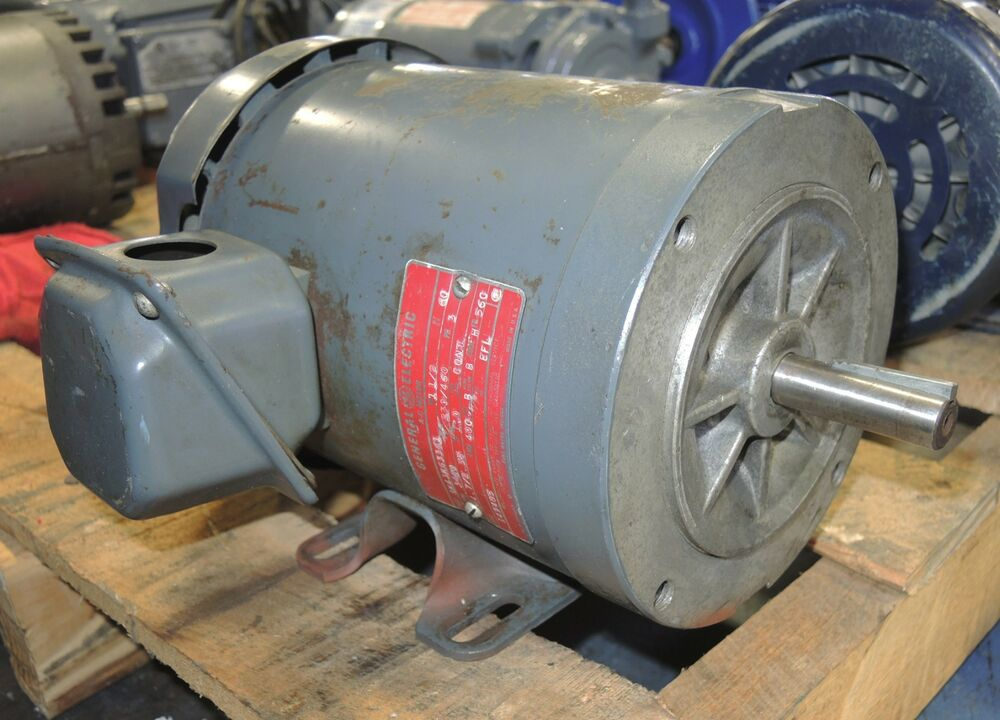 General electric ac motor 1 5 hp 230 460 volt mod Ac motor 1 hp